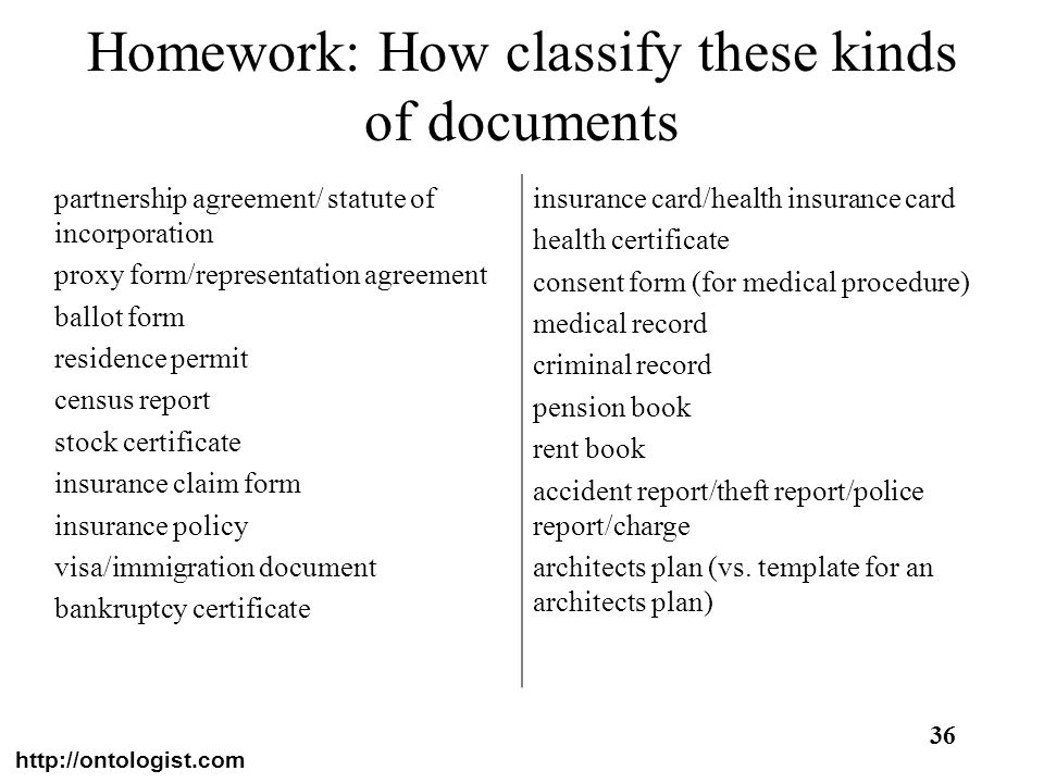Homework: How classify these kinds of documents