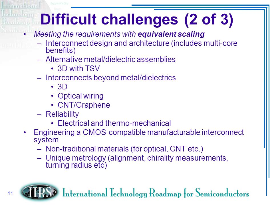 Difficult challenges (2 of 3)