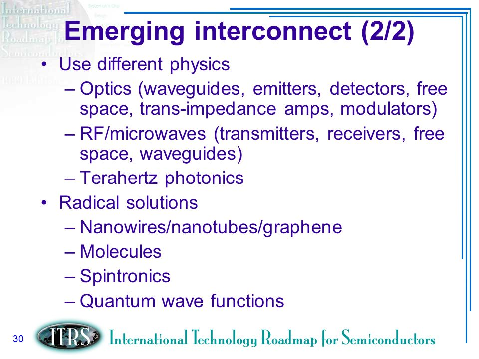 Emerging interconnect (2/2)