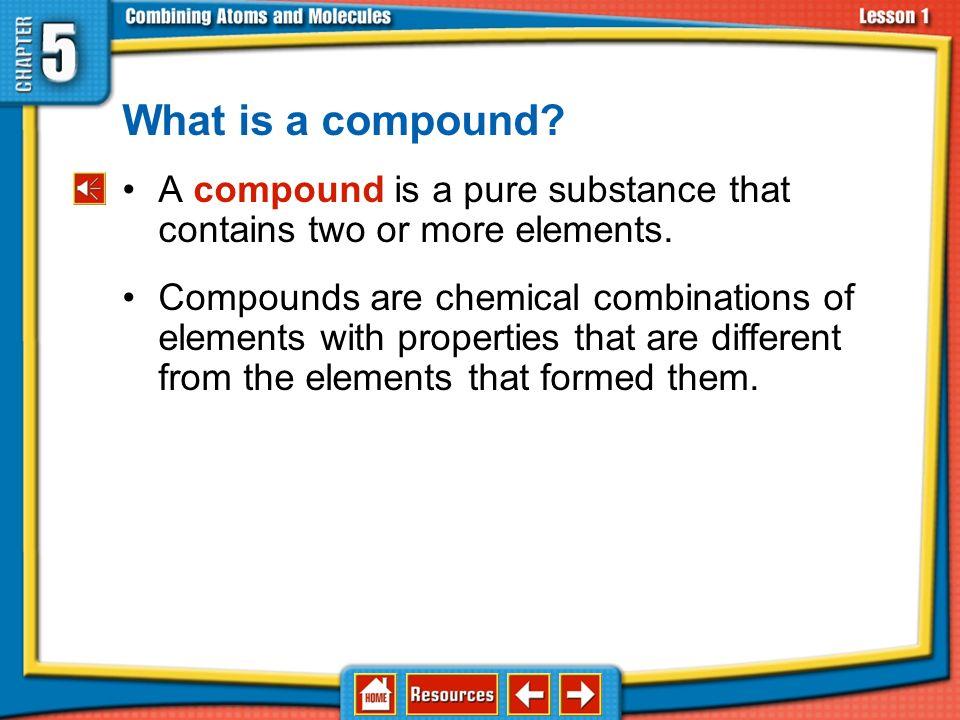 Chapter Menu Lesson 1: How Atoms Form Compounds - ppt download