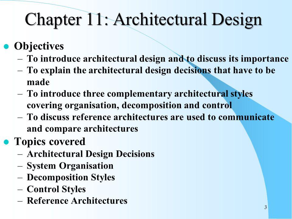 Superior Chapter 11: Architectural Design