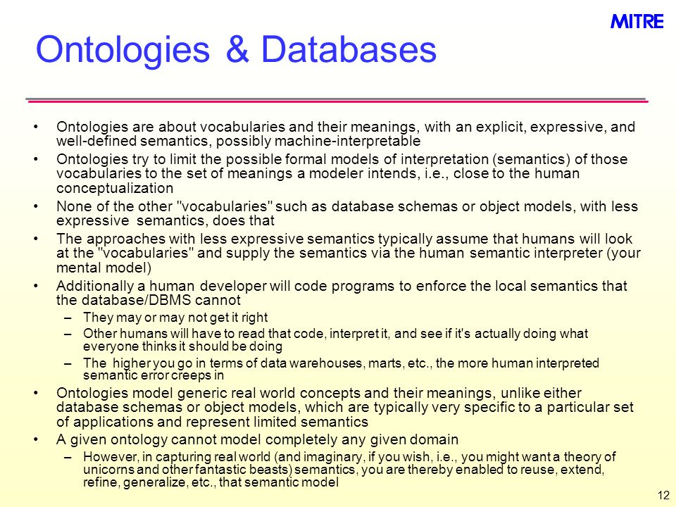 Ontologies & Databases