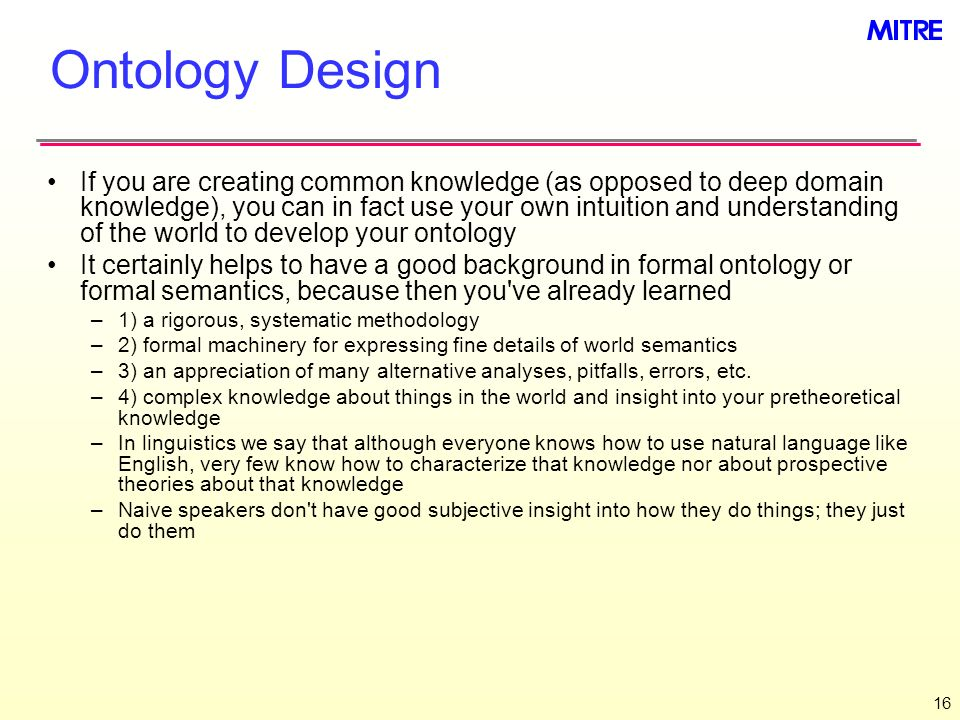 Ontology Design