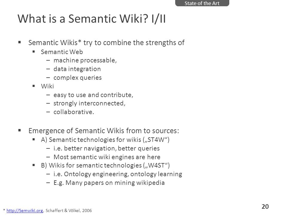 What is a Semantic Wiki I/II