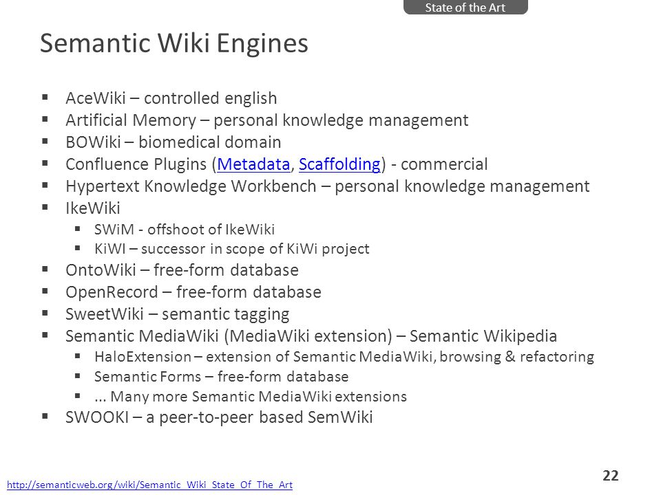 Semantic Wiki Engines AceWiki – controlled english