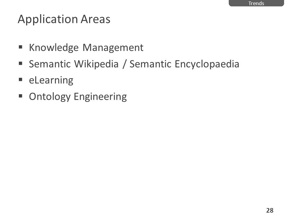 Application Areas Knowledge Management