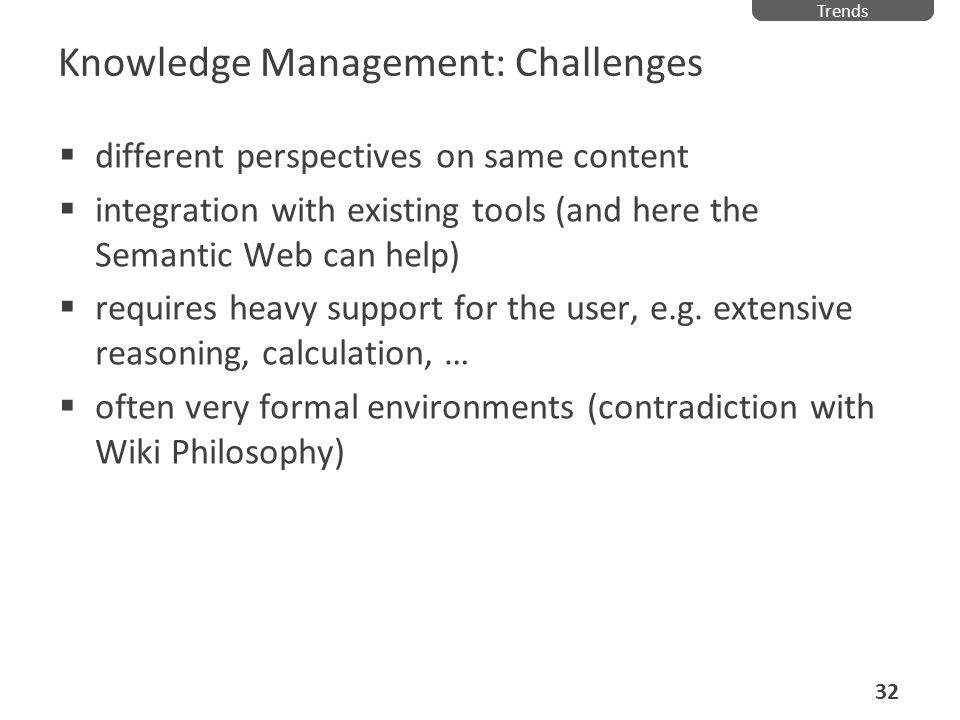 Knowledge Management: Challenges