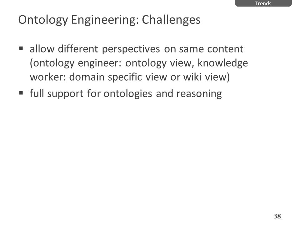Ontology Engineering: Challenges
