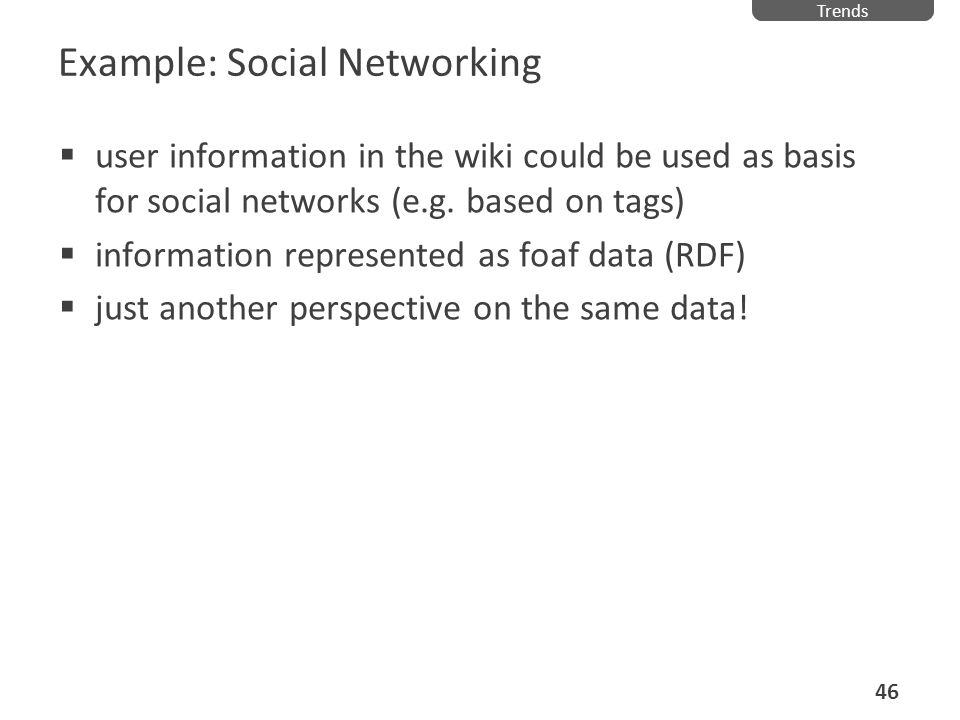 Example: Social Networking