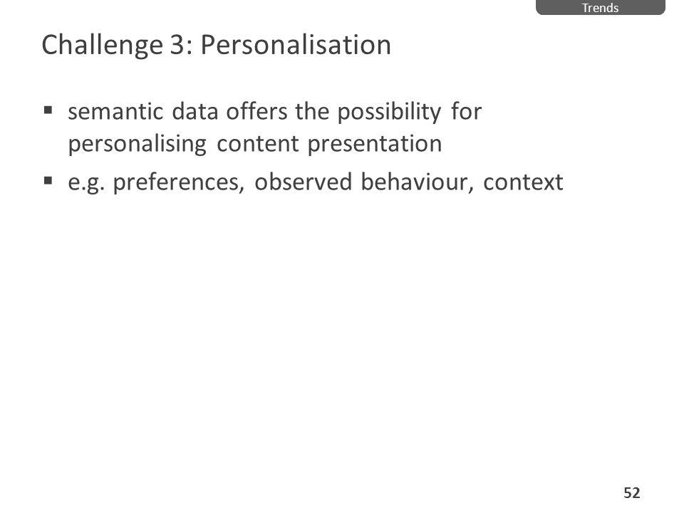 Challenge 3: Personalisation