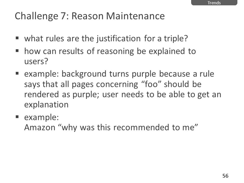 Challenge 7: Reason Maintenance