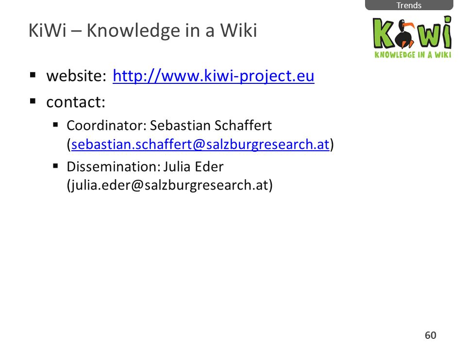 KiWi – Knowledge in a Wiki