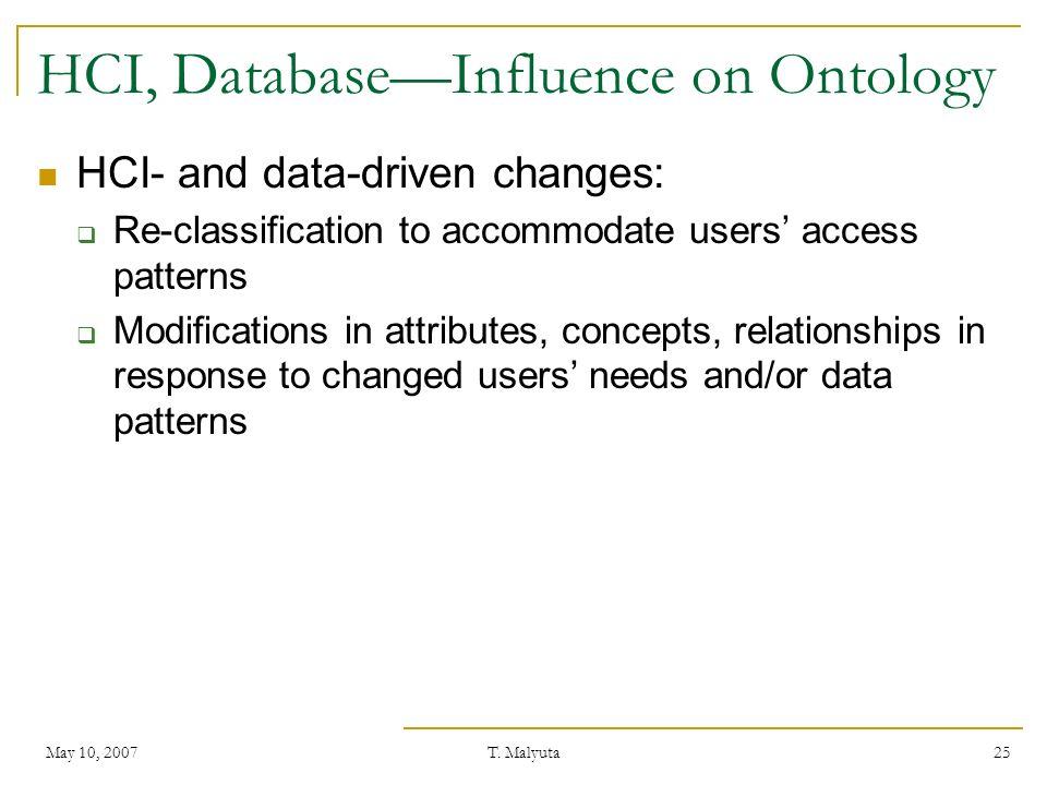 HCI, Database—Influence on Ontology