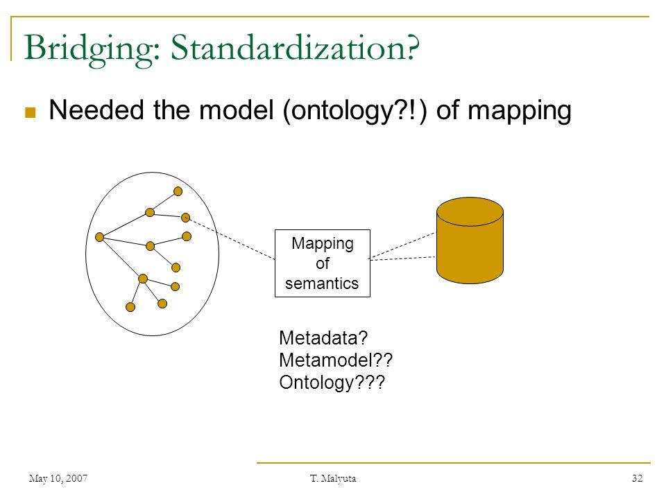 Bridging: Standardization