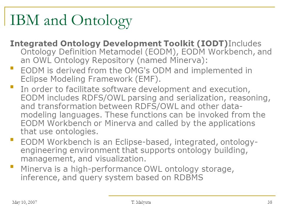 IBM and Ontology