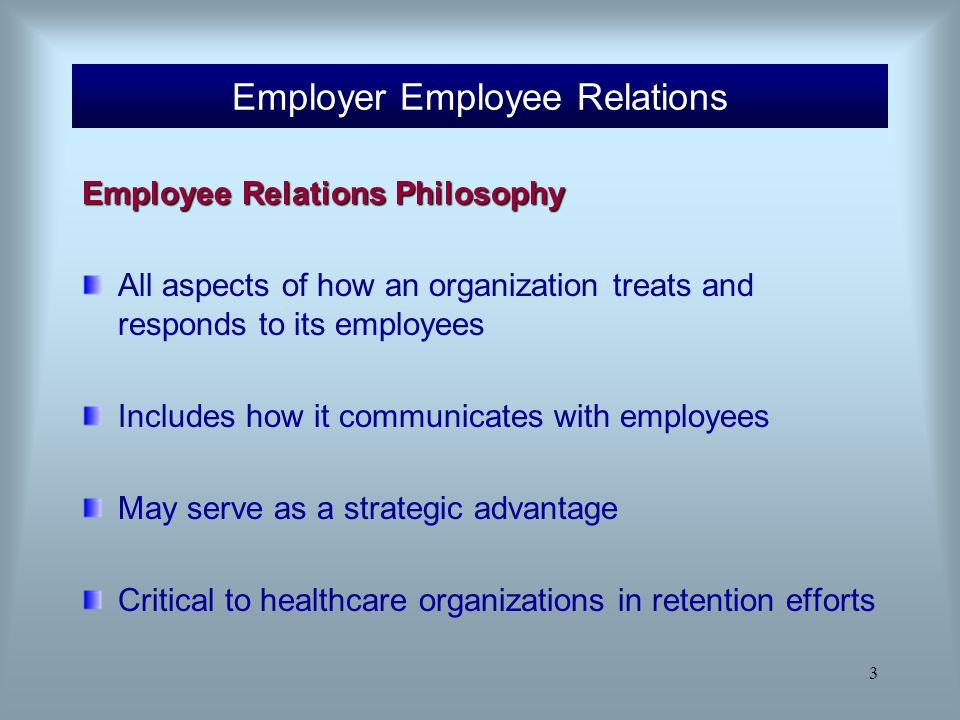 contractual relationship between employee and employer