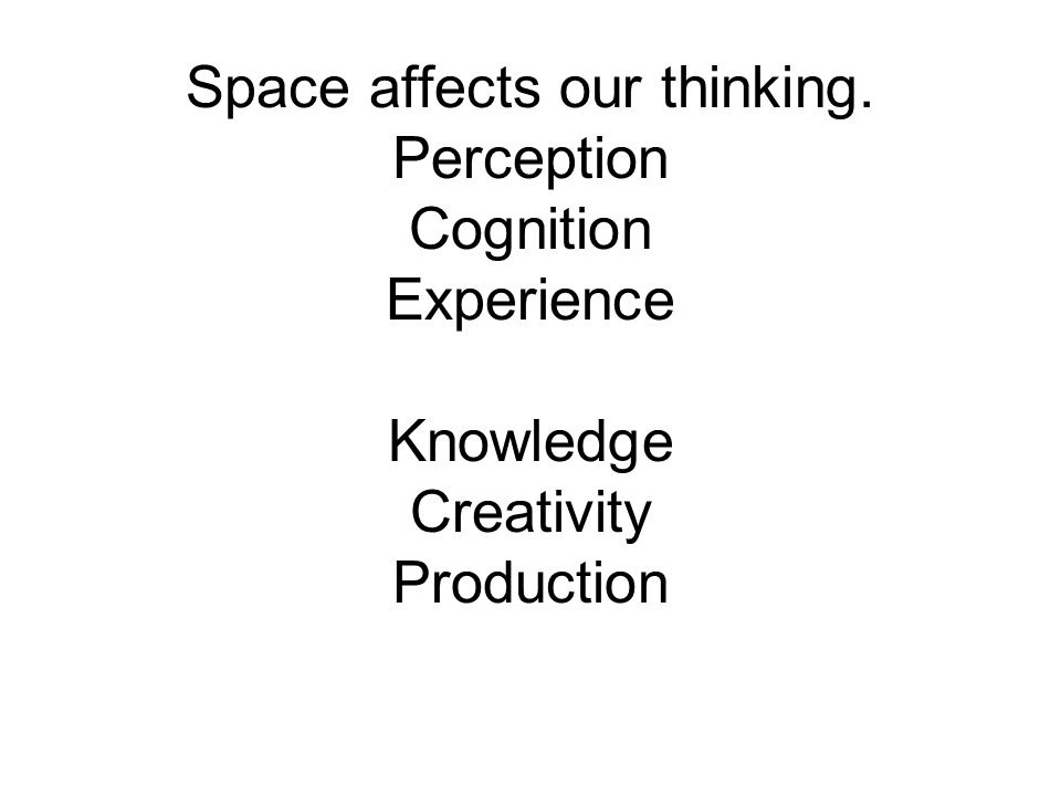 Space affects our thinking