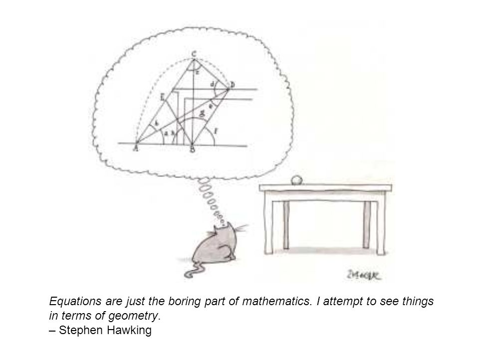 Equations are just the boring part of mathematics