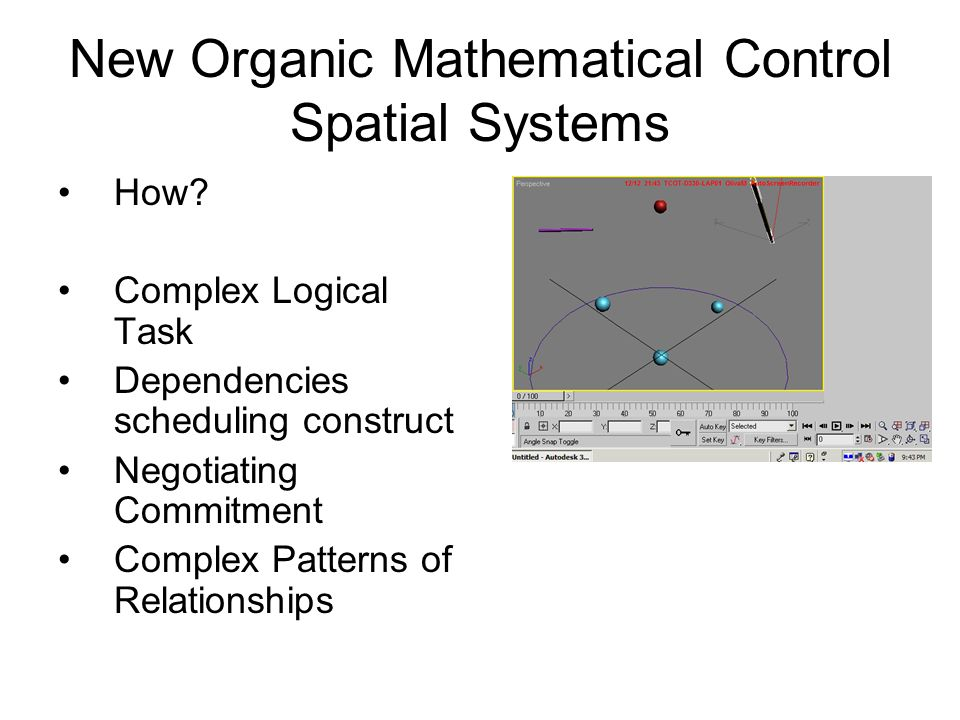 New Organic Mathematical Control Spatial Systems