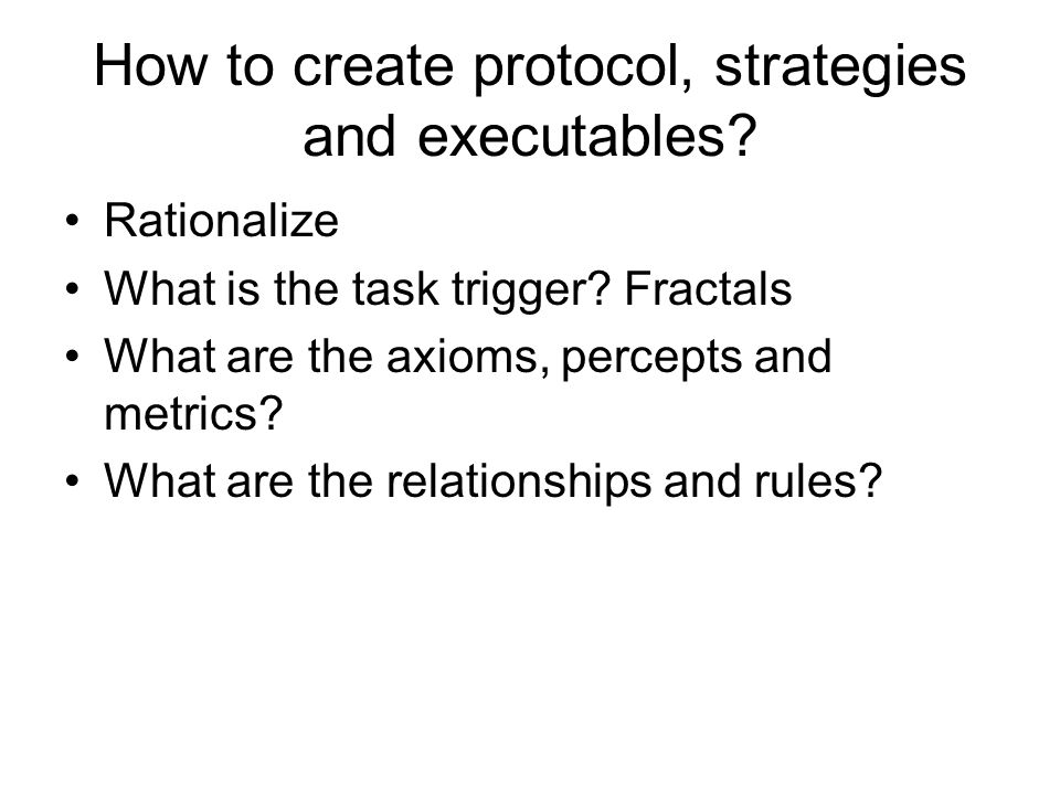 How to create protocol, strategies and executables