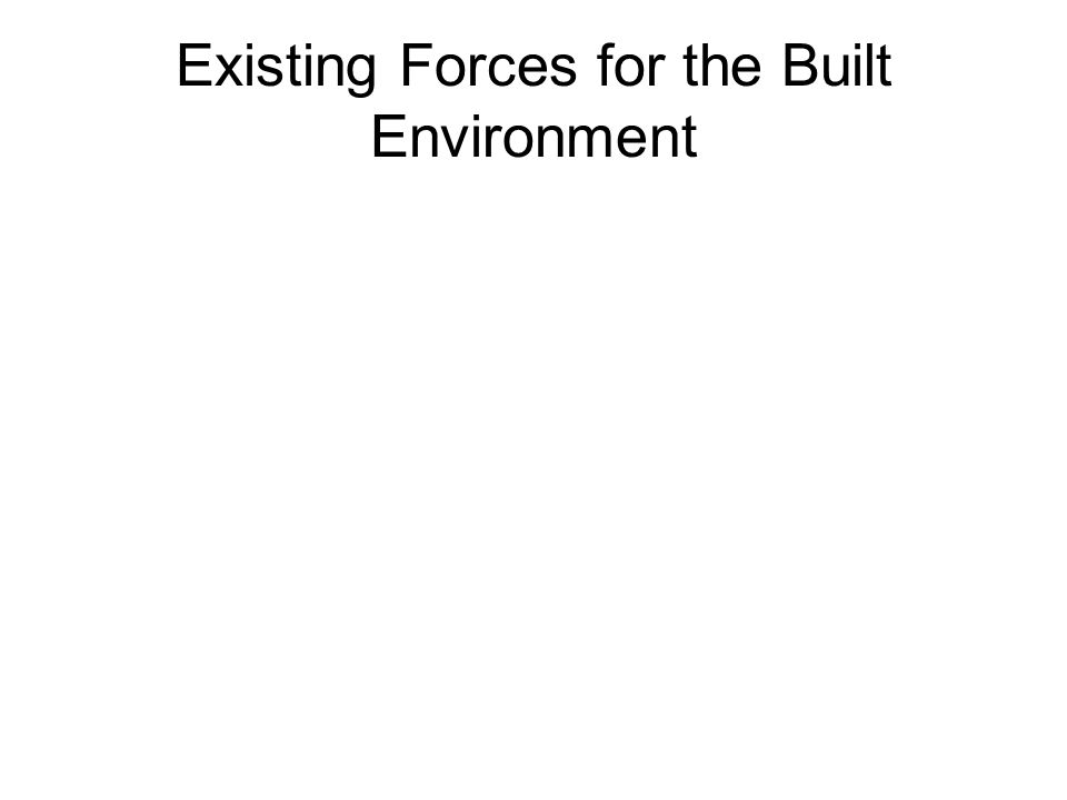 Existing Forces for the Built Environment