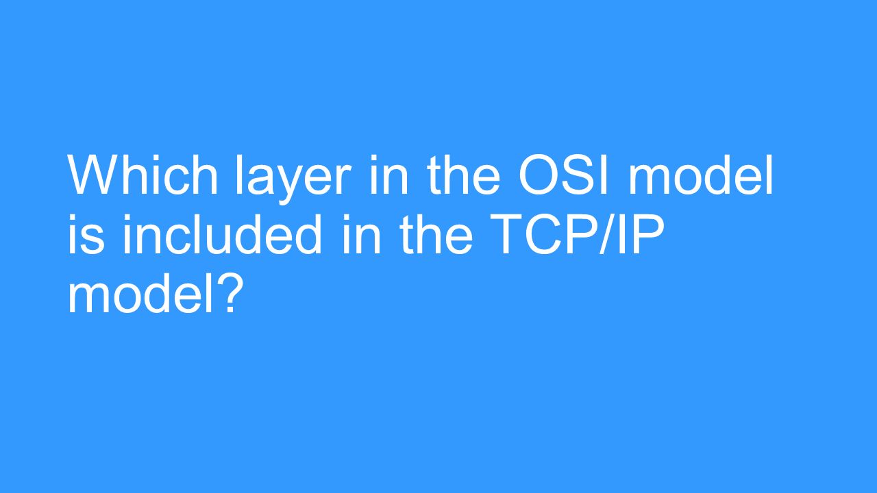 analysis of osi and tcp ip model Transmission control protocol/internet protocol (tcp/ip) model was created by us department of defense (dod) and open systems interconnect (osi) model was created by the international standards organization (iso).