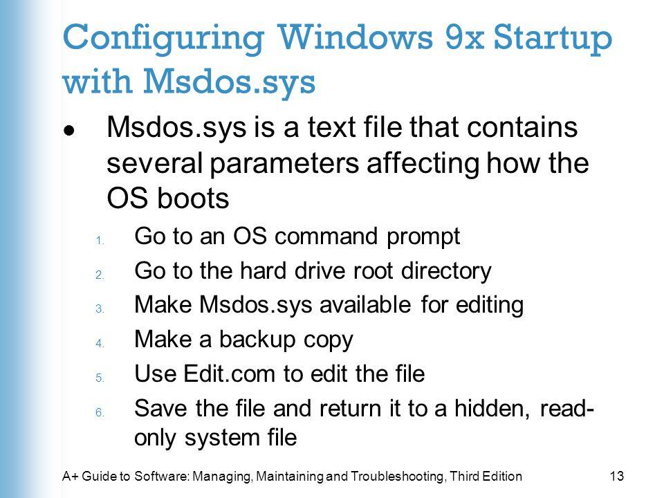Скачать файл ms dos sys