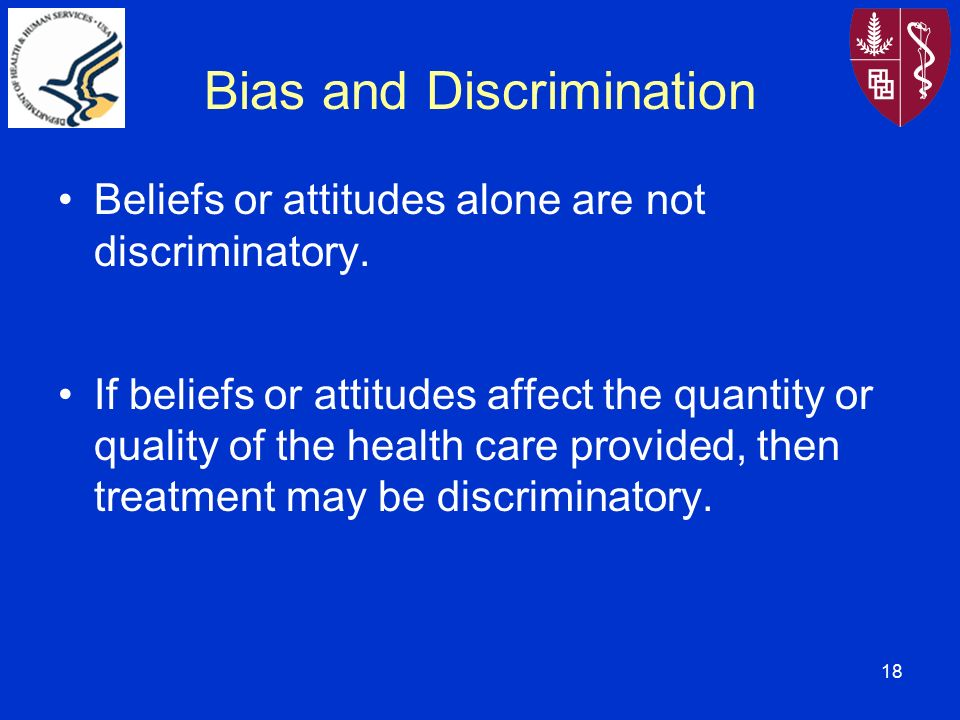 discriminatory attitude Transparencies for 11/18/96: discrimination i discriminatory attitude  to discriminate in one's attitudes on the basis of factor x = to regard.