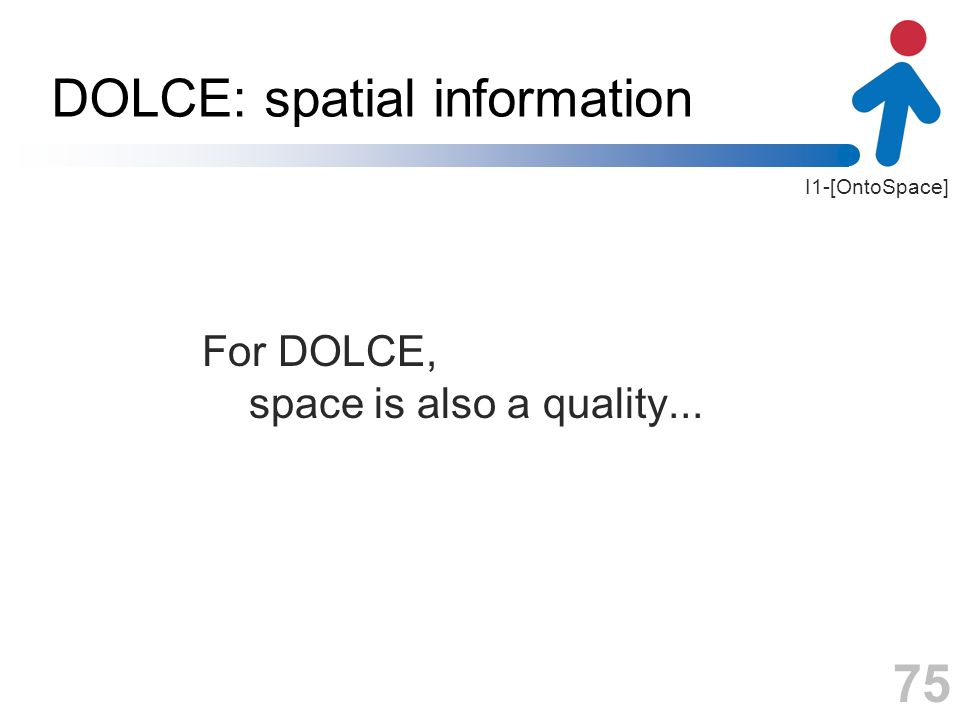 DOLCE: spatial information