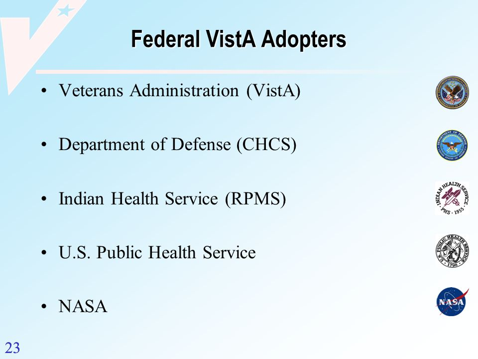 Federal VistA Adopters