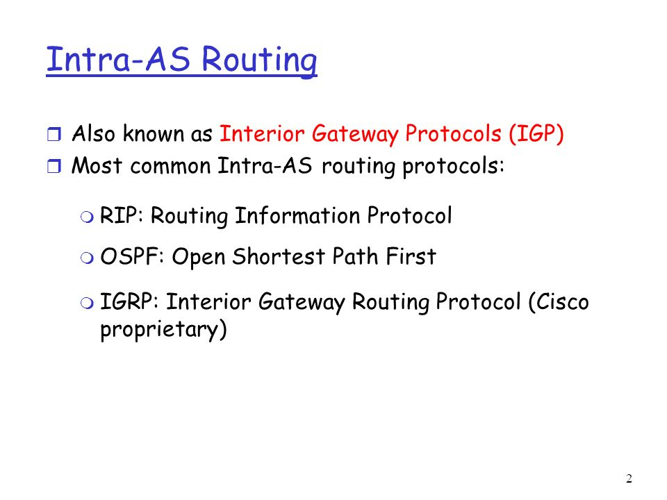 open shortest path first an interior gateway protocol Open shortest path first (ospf) is an interior gateway protocol (igp) that is used mainly in larger tcp/ip internetworks and within autonomous systems of the internet ospf is more efficient in terms of network overhead than the routing information protocol (rip), but it is considerably more complex to plan and implement in an enterprise.