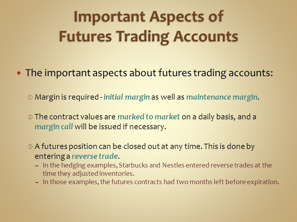 Important Aspects of Futures Trading Accounts