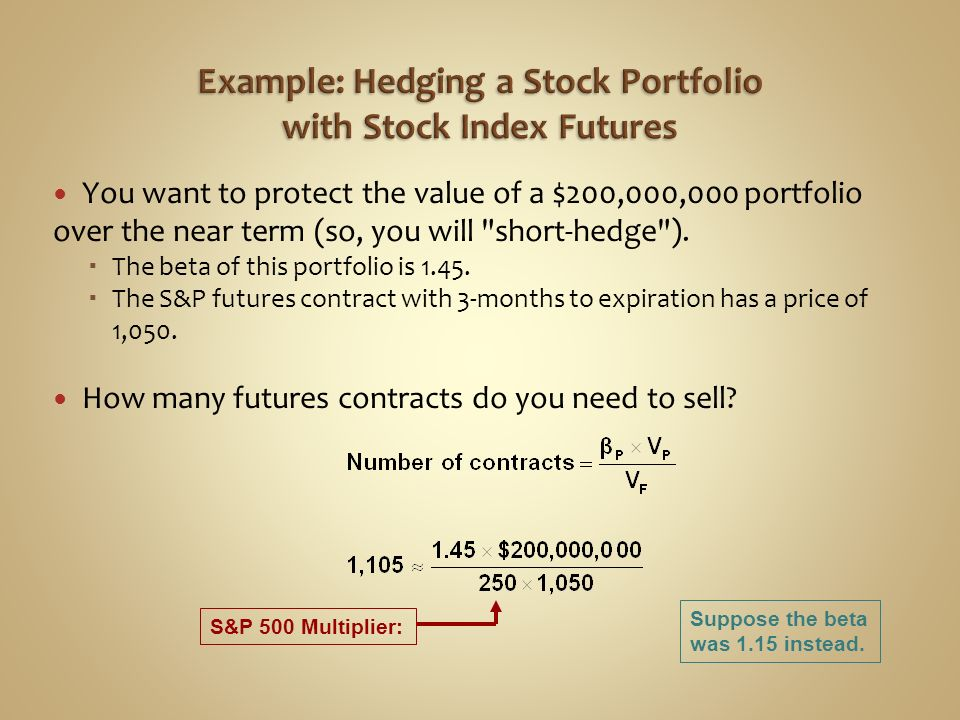 Example: Hedging a Stock Portfolio with Stock Index Futures