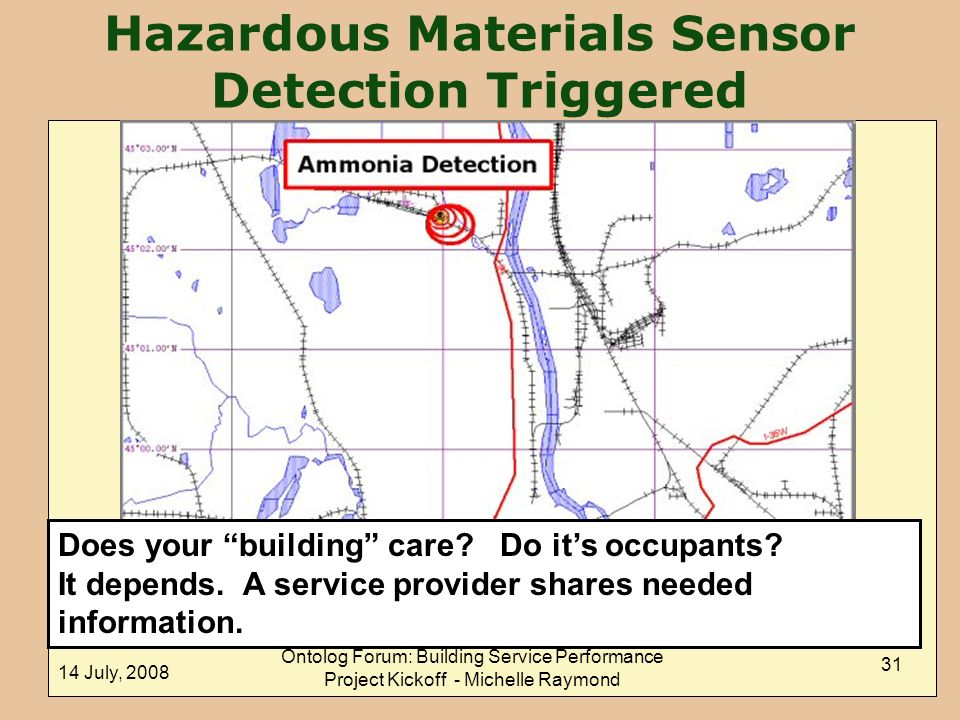 Hazardous Materials Sensor Detection Triggered