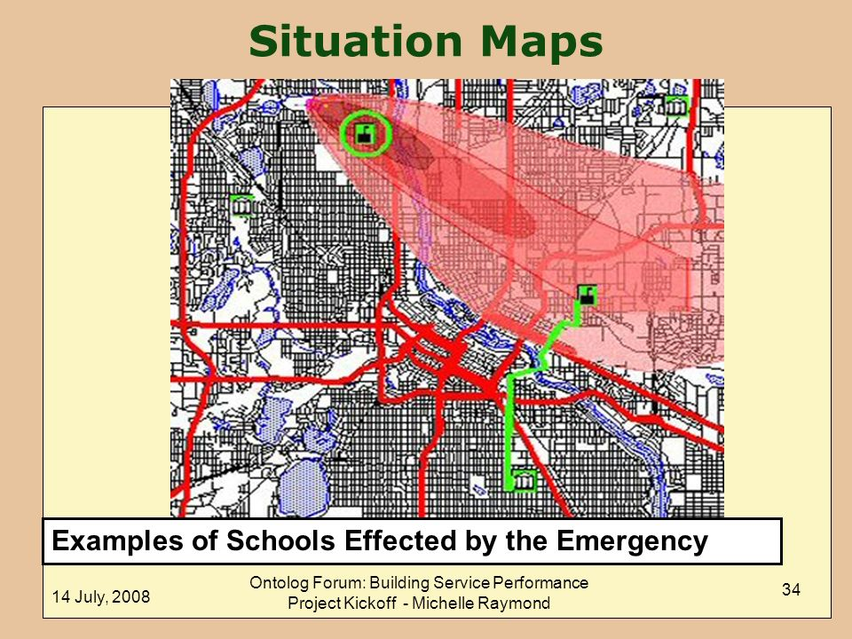 Situation Maps Examples of Schools Effected by the Emergency