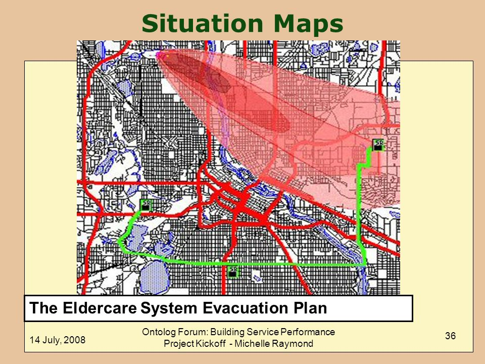 Situation Maps The Eldercare System Evacuation Plan