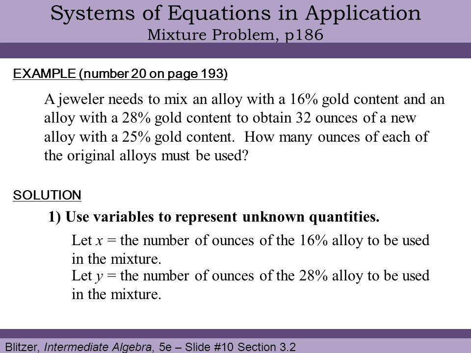 Use the echelon method to solve the given system of two equations in two unknowns