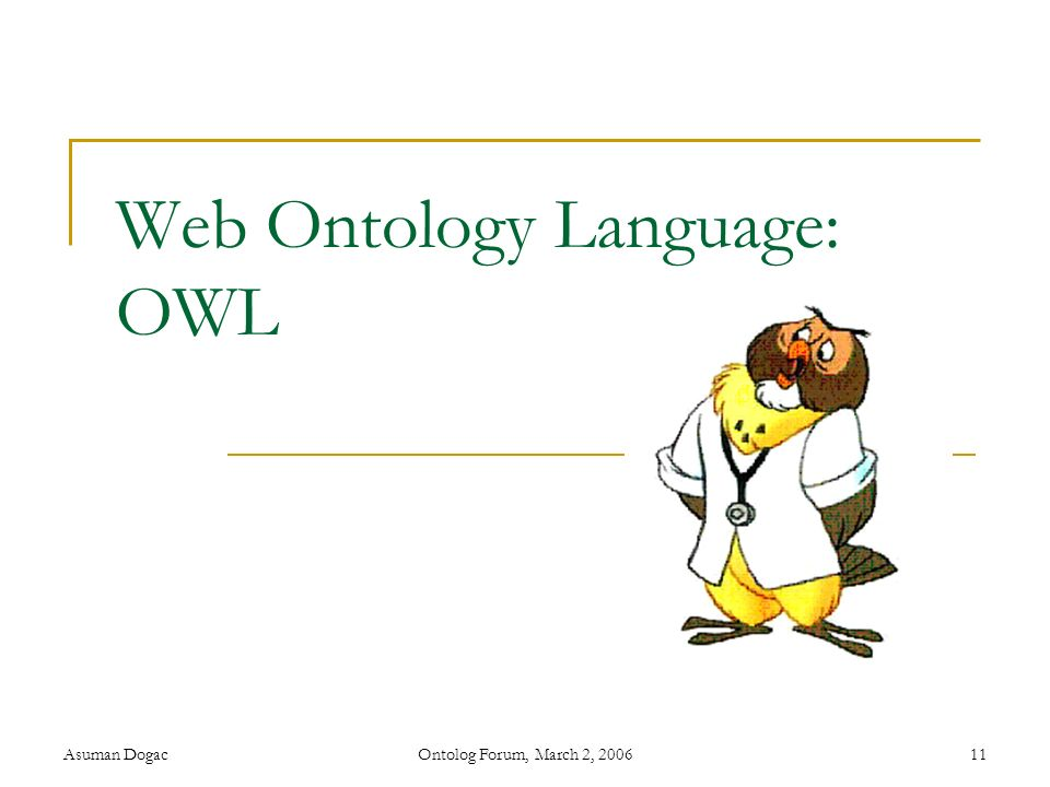 Web Ontology Language: OWL
