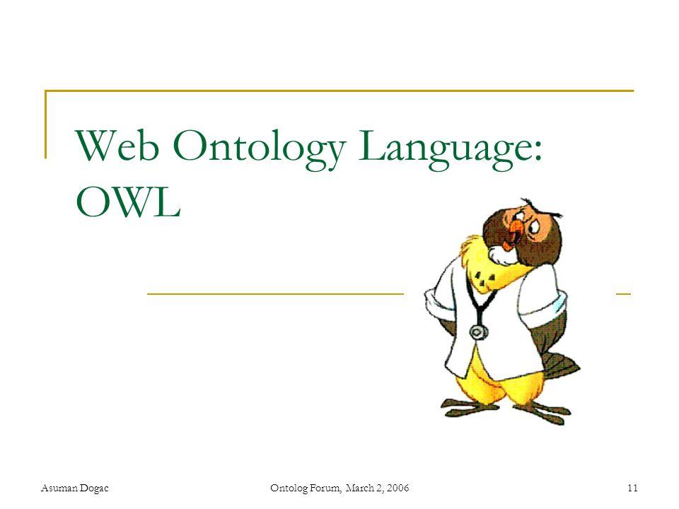 Web Ontology Language: OWL