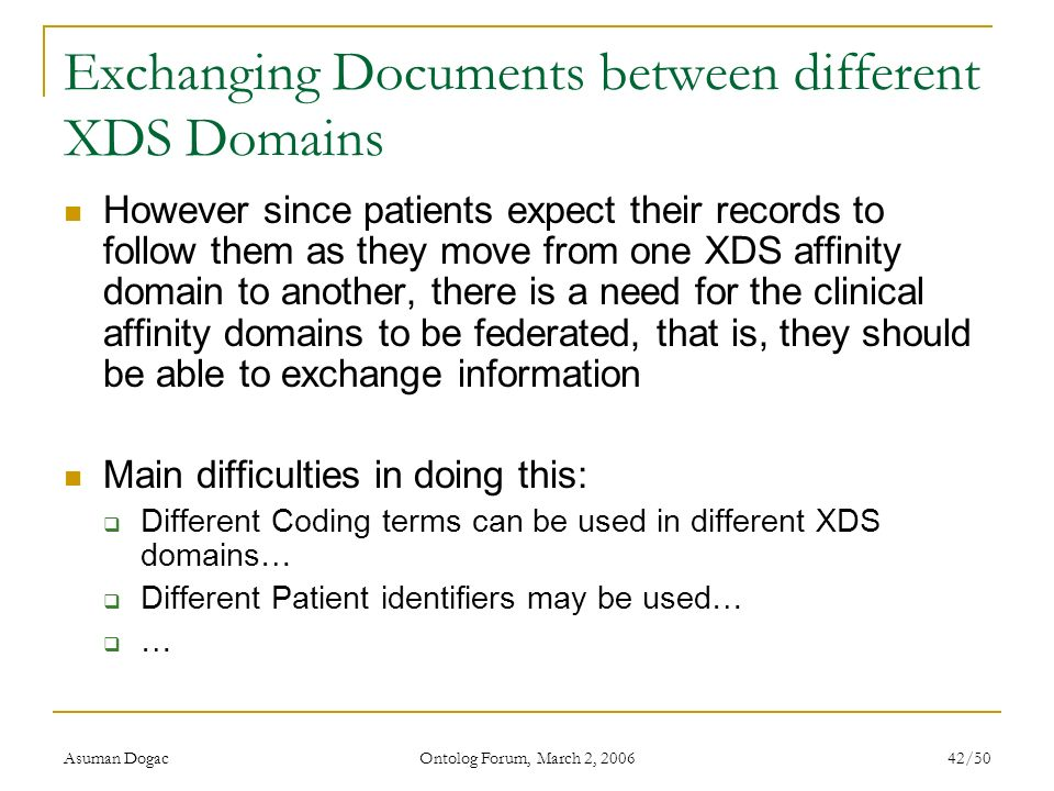 Exchanging Documents between different XDS Domains