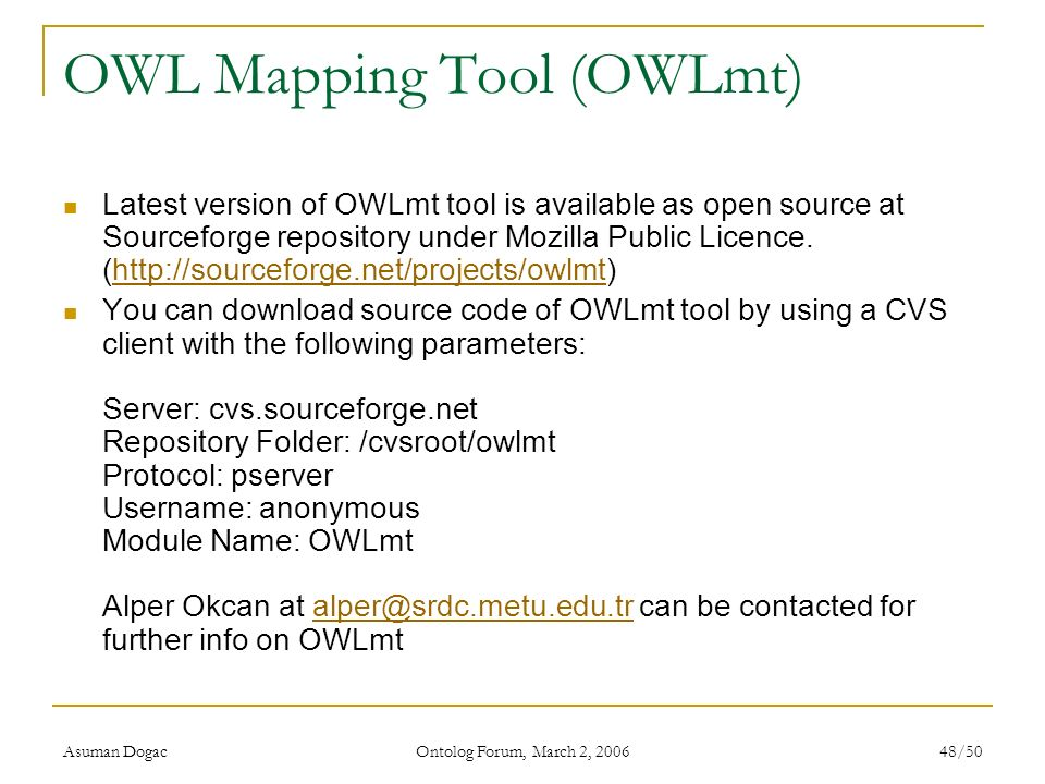 OWL Mapping Tool (OWLmt)