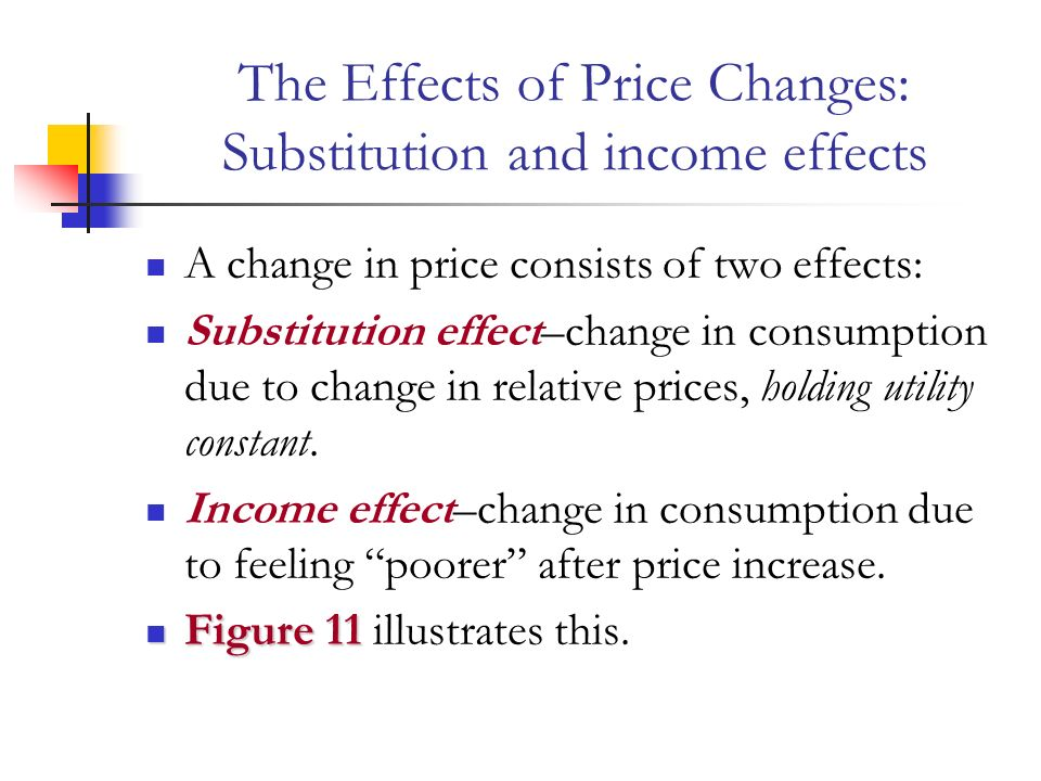 Decomposing a Price Response: Income and Substitution Effects