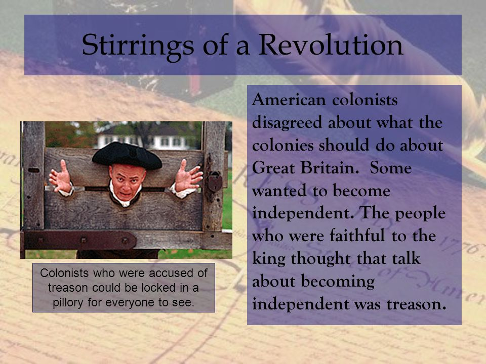 stirrings of revolt in the new A)new france and the iroquois nation  iroquois granted concessions to british, french built new fortresses in ohio valley, british did the  4)stirrings of revolt.