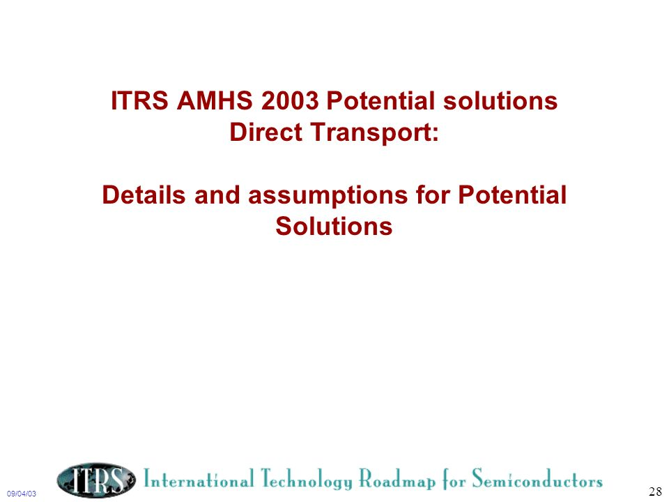 ITRS Factory Integation TWG