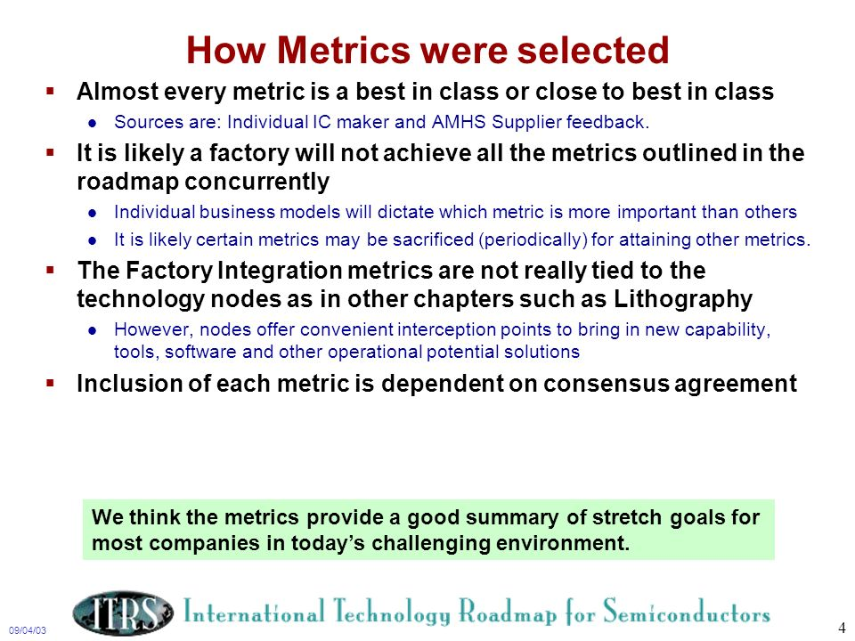 How Metrics were selected
