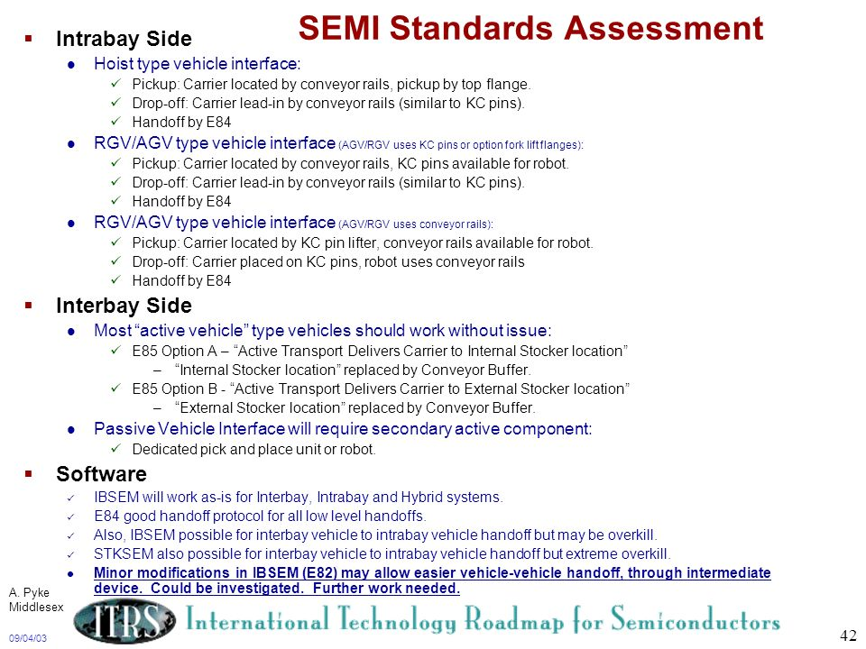 SEMI Standards Assessment