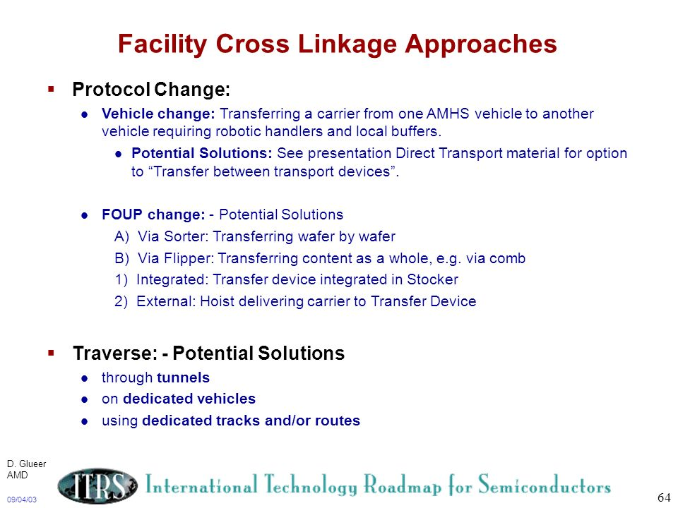 Facility Cross Linkage Approaches