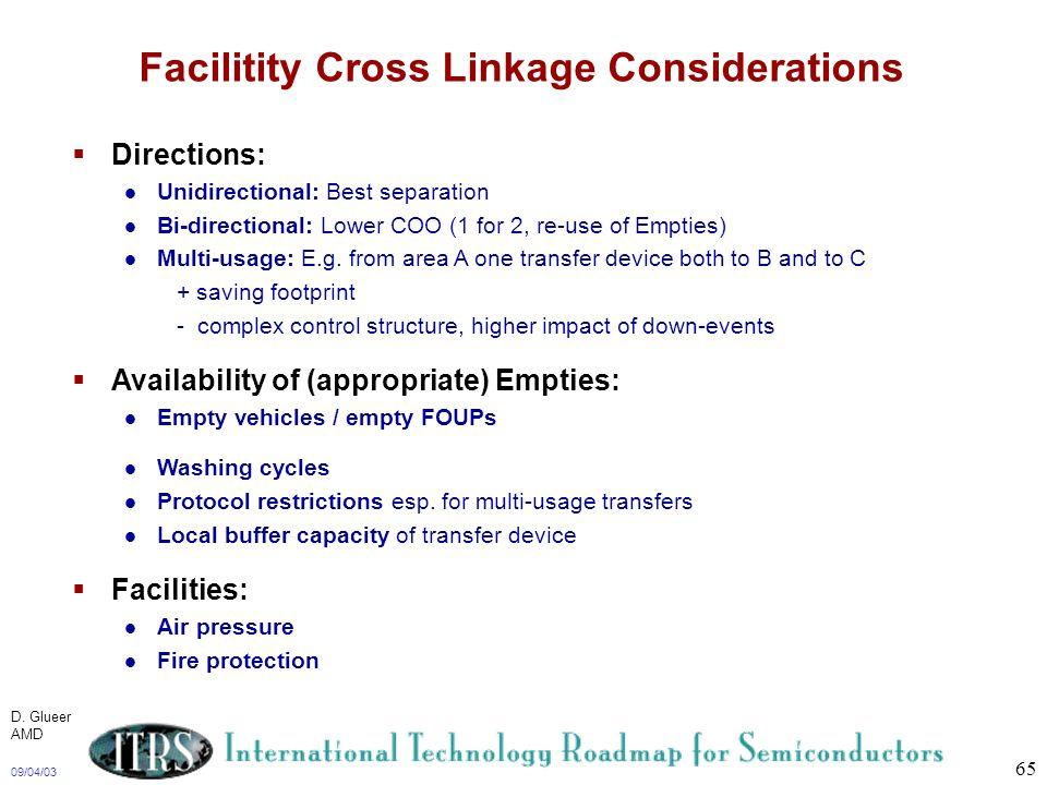 Facilitity Cross Linkage Considerations
