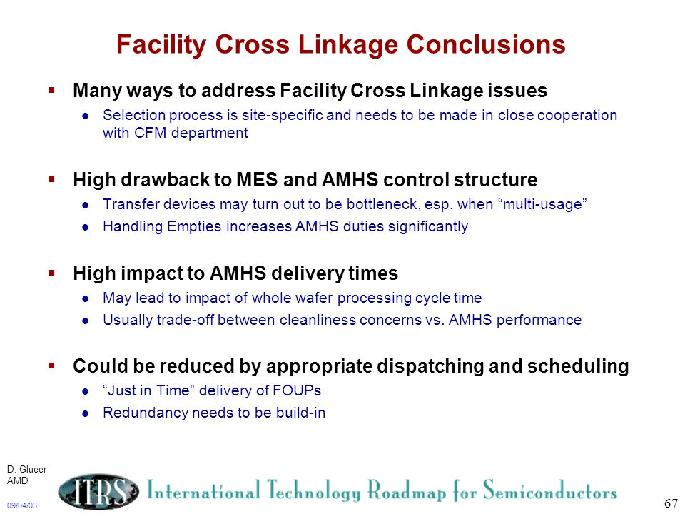 Facility Cross Linkage Conclusions