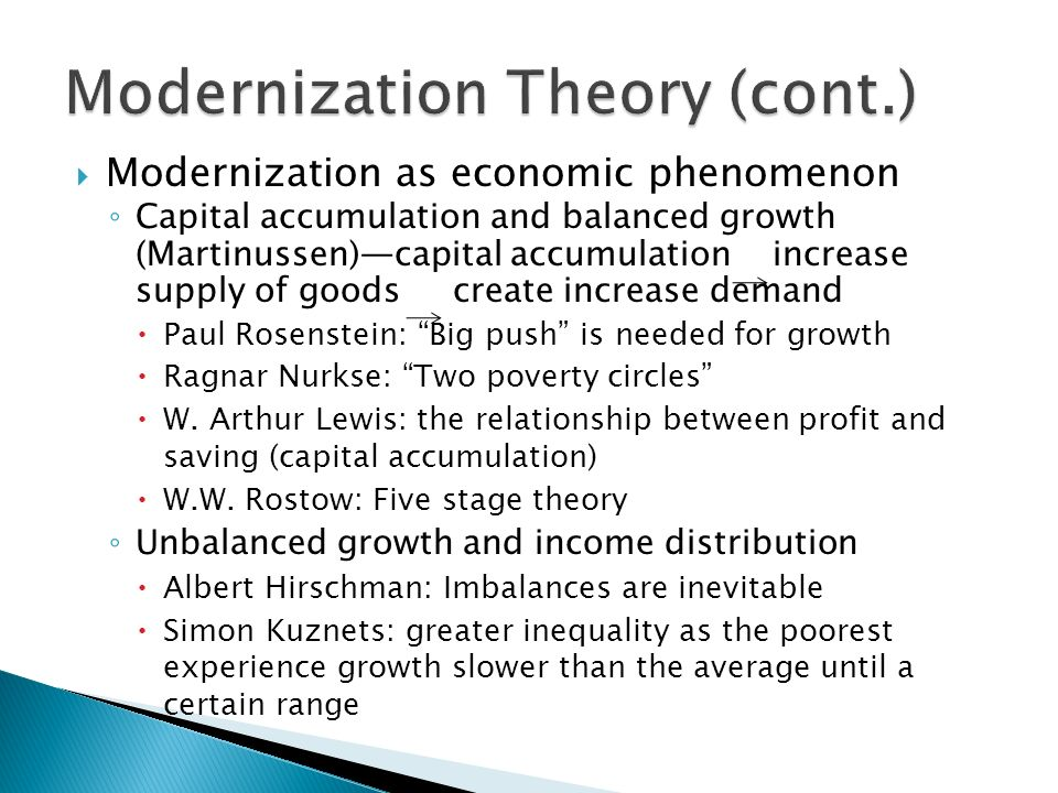 History of modernisation theory